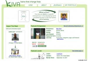 Kiva.org - Startseite