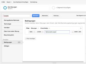 segmentierung bei google analytics