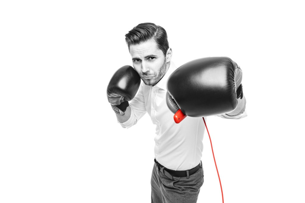 Jonas Wilmesmeier mit Boxhandschuhen